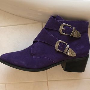 NWT Urban Outfitters purple booties